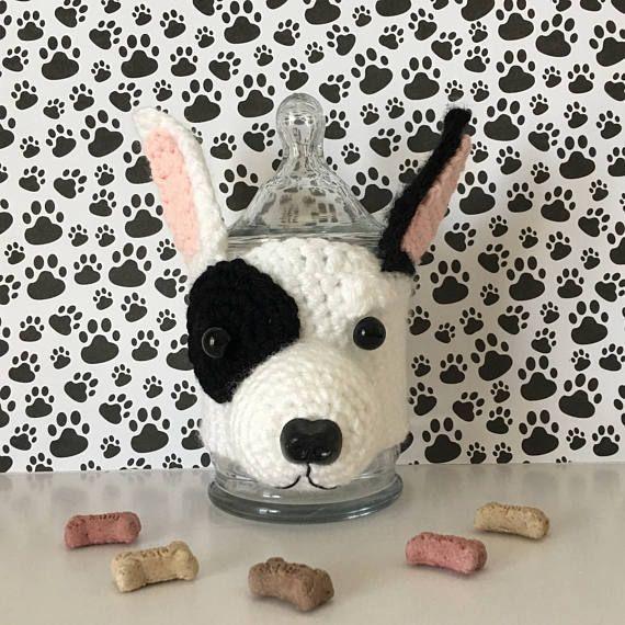 English Bull Terrier - Bull Terrier Gifts - Bull Terrier - Dog Treat Jar - Veterinarian Gift - Vet Tech - Gifts for Dog Moms -Dog Lover Gift