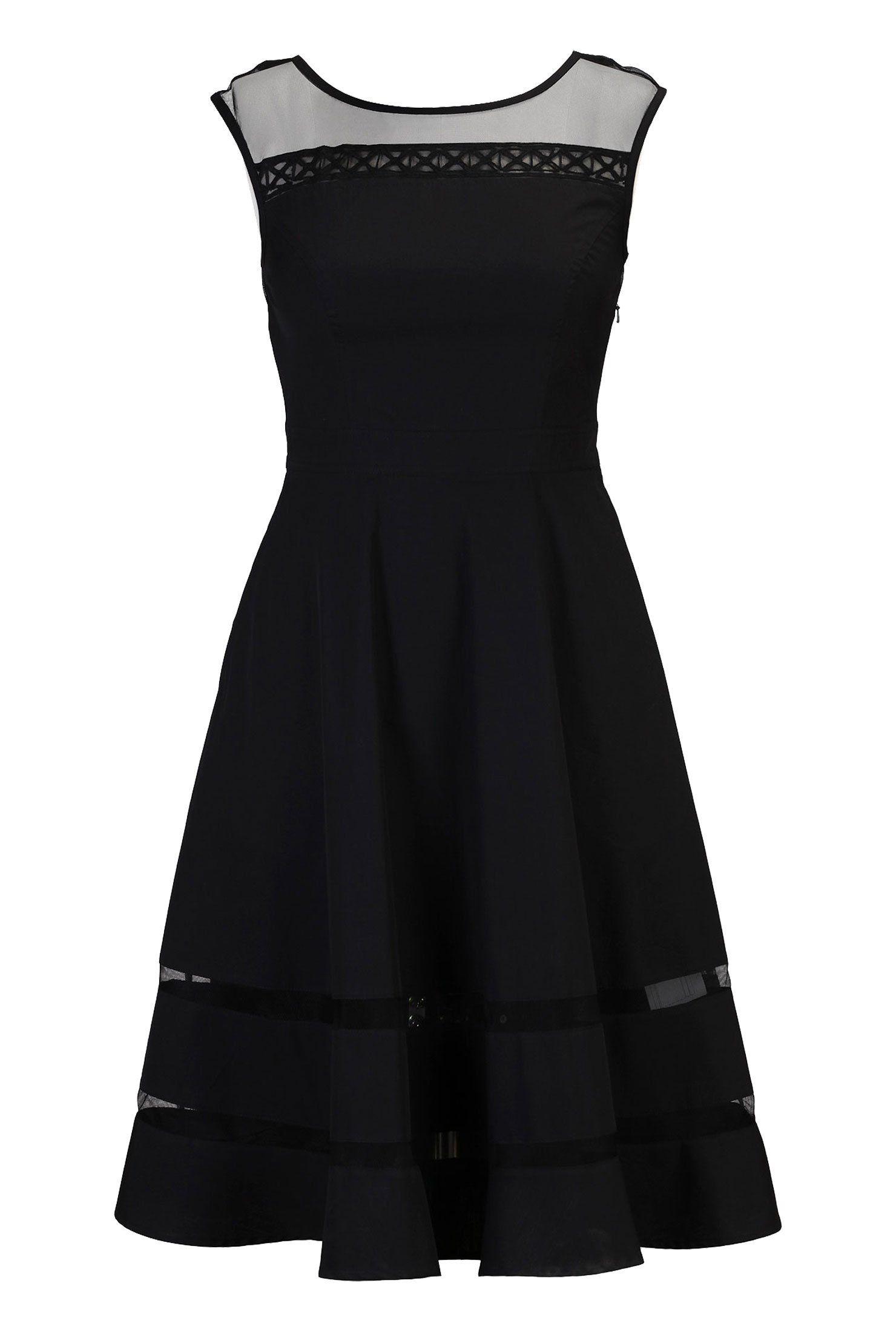 eShakti Women's Illusion embellished yoke poplin dress at Amazon Women's Clothing store: