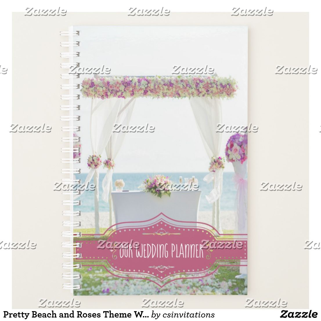 Pretty Beach and Roses Theme Wedding Planner | Wedding Planner ...