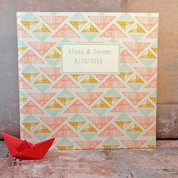 Hochzeitsgästebuch Gästebuch zur Taufe stoffbezogenes von scatoli