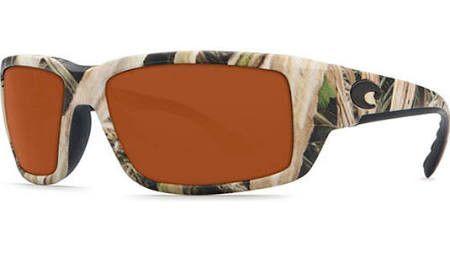 NEW! COSTA DEL MAR mossy oak camo//copper FANTAIL POLARIZED 580P sunglasses