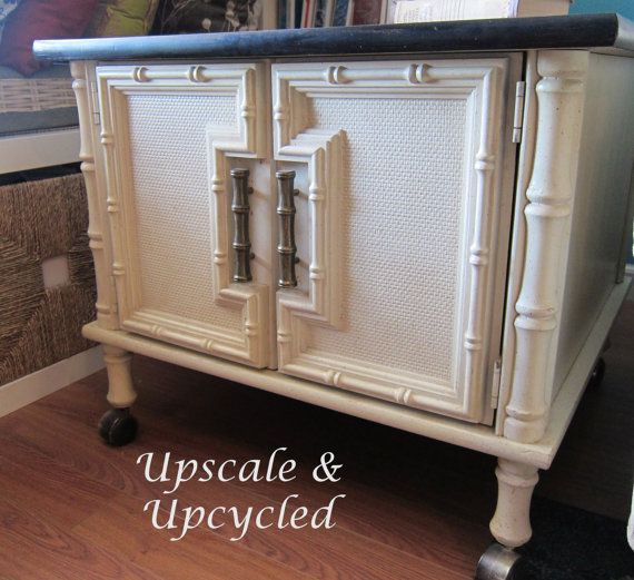 Vintage Faux Bamboo refinished side table