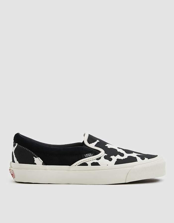 2aca8779494715 Vault by Vans   OG Classic Slip-On LX Sneaker in Cow Black Cow ...