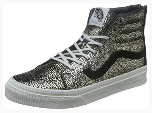 2d118d5554 Vans Womens SK8-HI Slim Zip Gold Dots Sneaker Gold Blanc De Blanc Size 6.5  ( Partner Link)