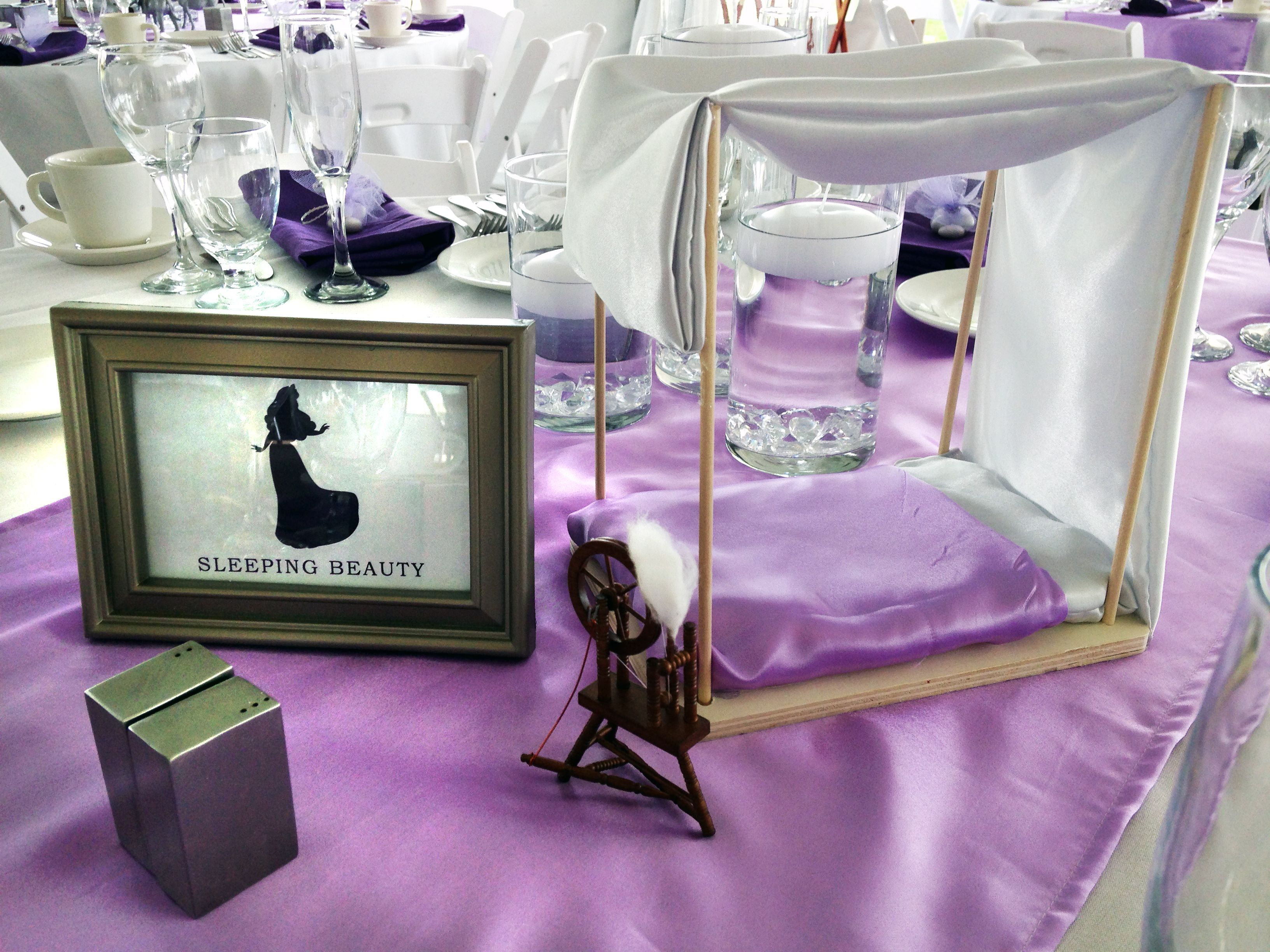 Sleeping beauty centerpiece pauleenanne design disney for Sleeping beauty wedding table