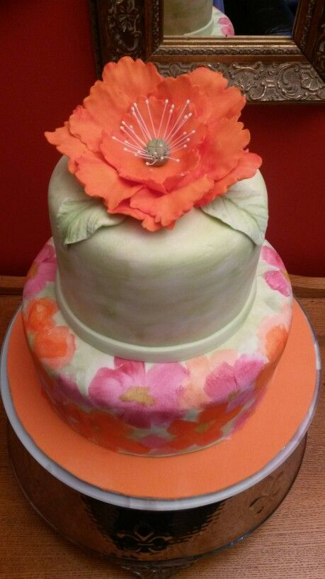 Summer painted cake
