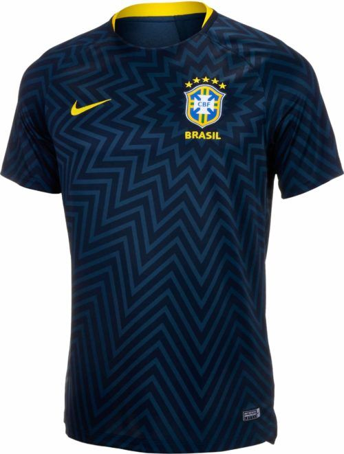 d0a768f5393 Nike Brazil Pre-Match Jersey for 2018 19 Buy it from SoccerPro