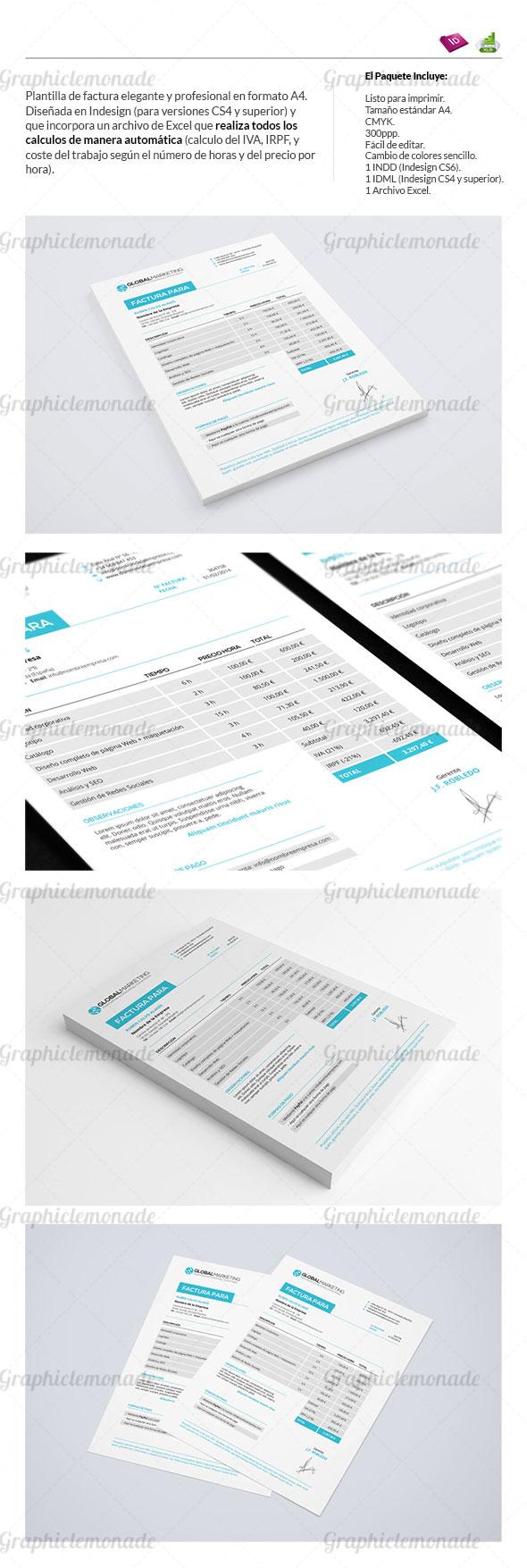 Plantilla de Factura Elegante y Profesional | HTML5 resources ...