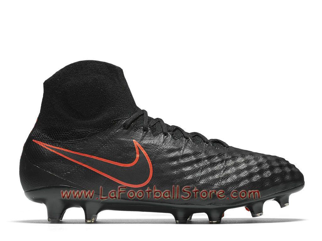 promo code ec729 37471 Nike Magista Obra II FG Chaussure Officiel Nike de football à crampons pour  terrain sec pour Homme Noir/Noir