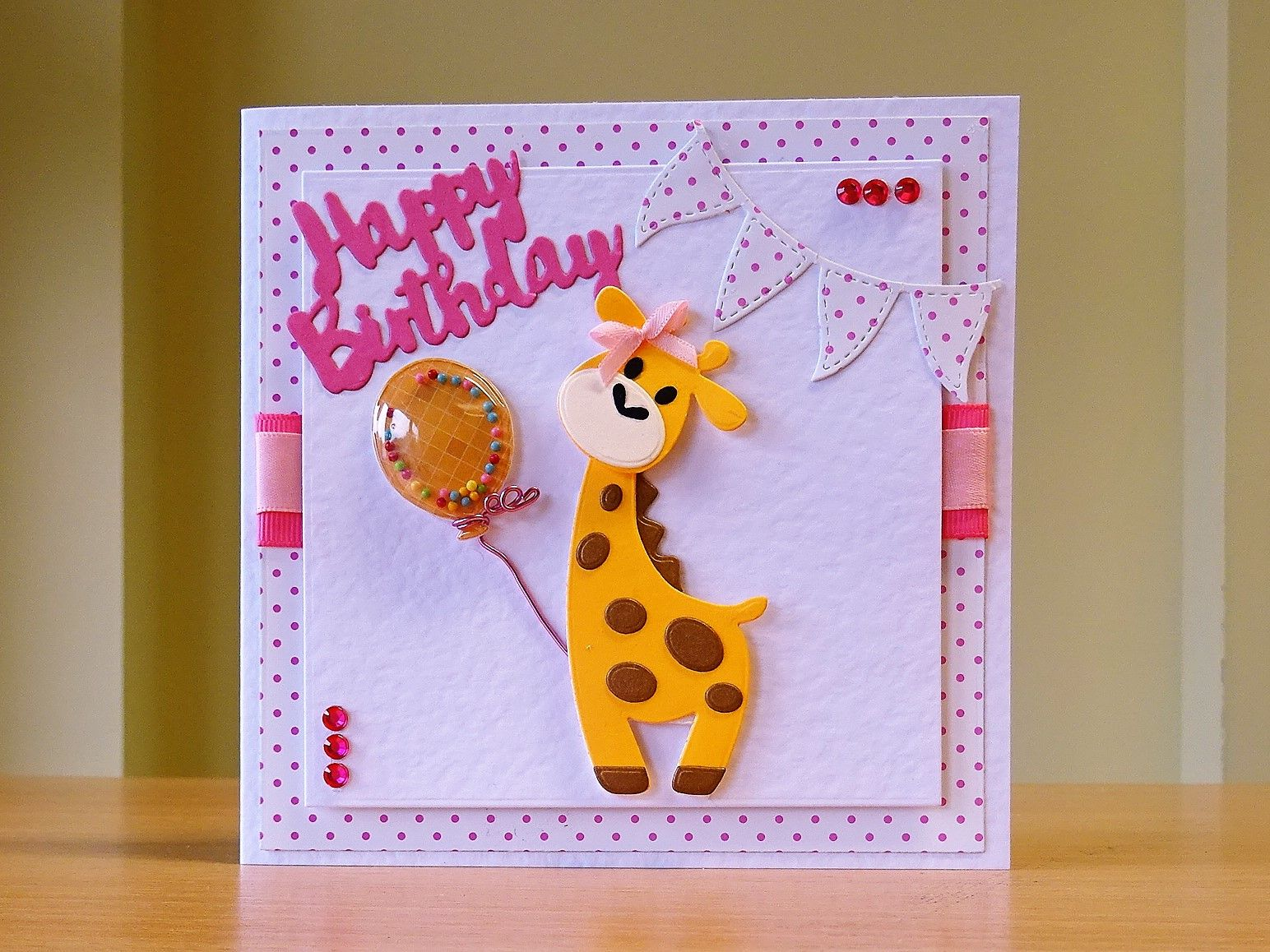 Birthday Card Handmade Marianne Giraffe Die For More Of My Cards