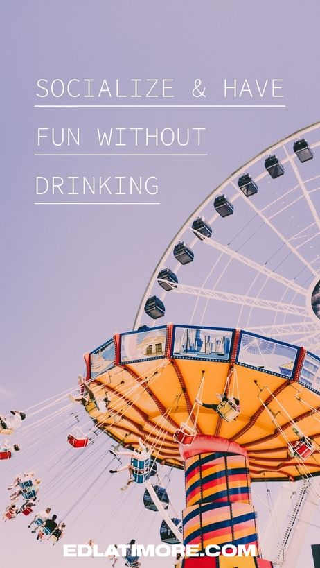 How to have fun and socialize sober