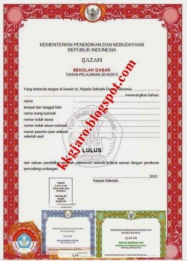 Kabar Guru Revisi Shun Dan Bentuk Ijazah Tahun 2014 2015 Dari Litbang Kemdikbud Kepala Sekolah Guru Bentuk