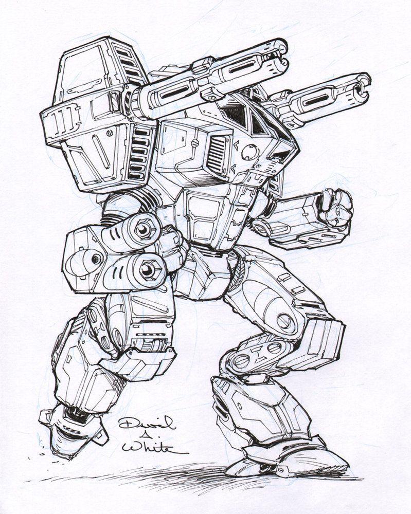 Legacy Mech Sketch By Mecha Zone Risunki Roboty Tank