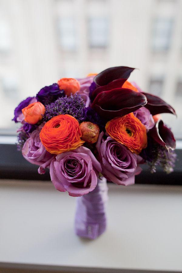 Bridesmaid Bouquet Idea Purple Wedding Inspiration Pinterest