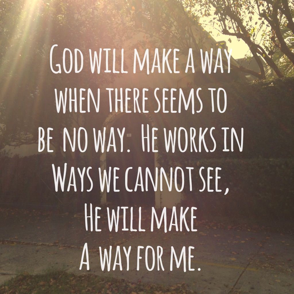 How To Quote The Bible: God Will Make A Way #lyrics #quote
