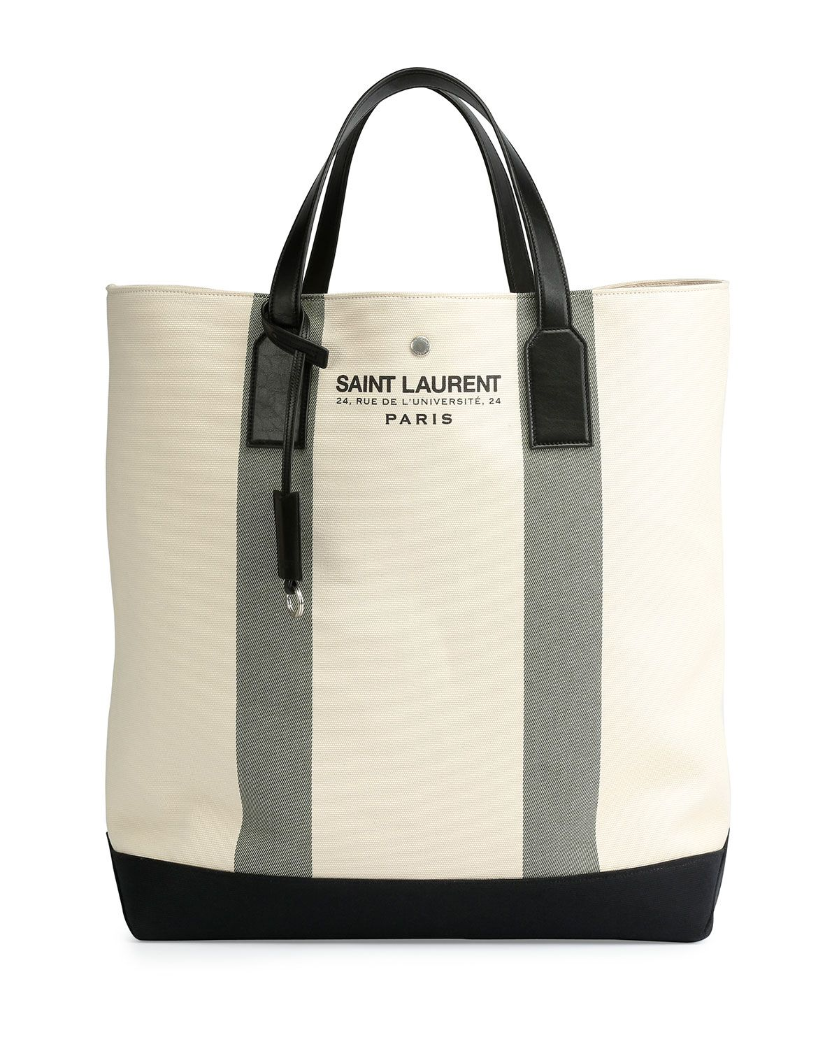 cc57b9d86 Yves Saint Laurent Logo Print Beach Tote Bag, Cream (Ivory), Men's ...