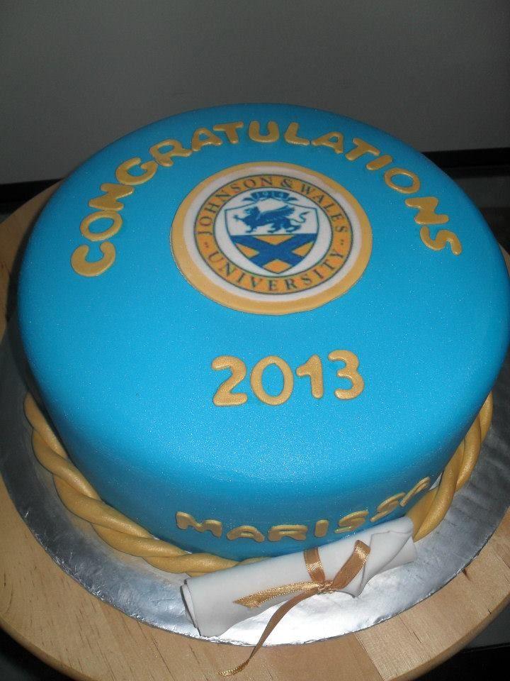Johnson Wales University Graduation Cake With School Logo