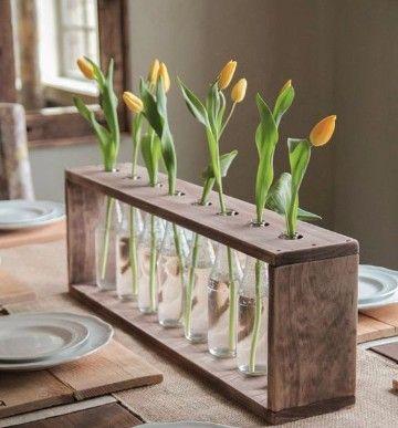 adornos para mesa de comedor rectangular con plantas | Arreglos De ...