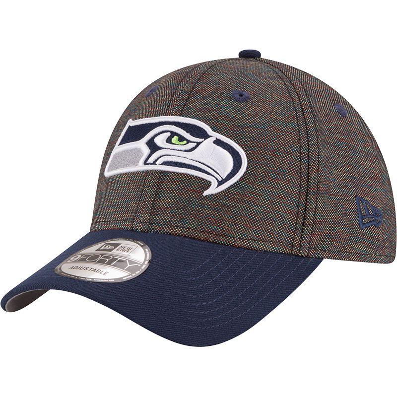 Seattle Seahawks New Era Vivid Crowner 9FORTY Adjustable Snapback Hat -  Black College Navy 6daa214648a