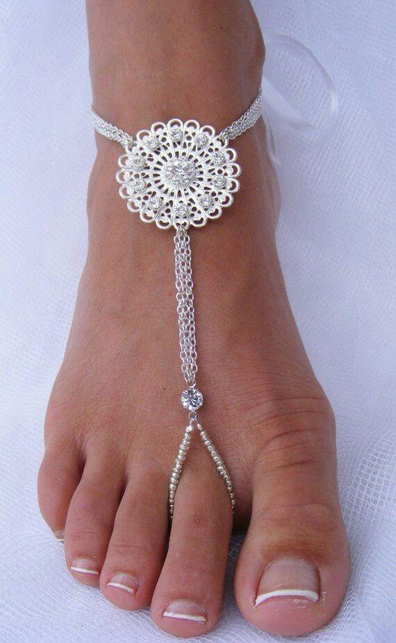 Why wear shoes beachwedding couplesresorts Anklets Pinterest