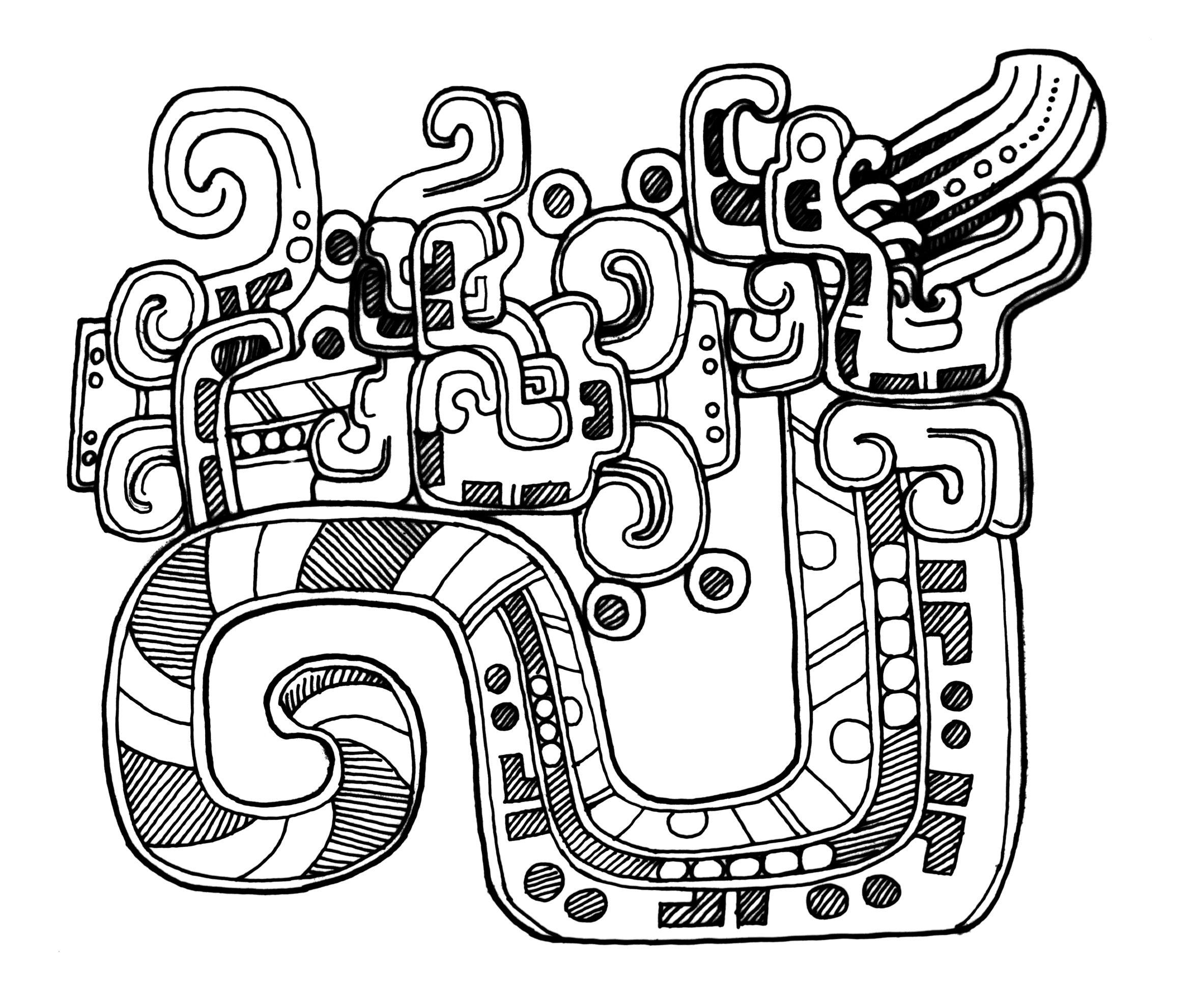 Mayan art, Maya art, Bee coloring pages