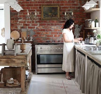 Las Cocinas Rusticas Enamoran El Ladrillo Visto Dota De