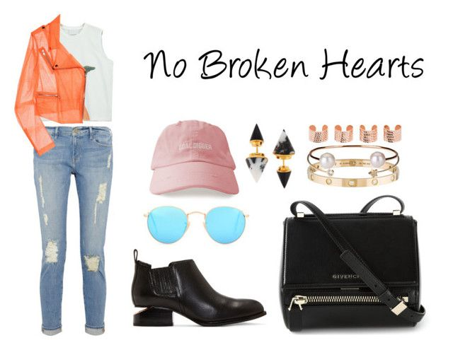 """No Broken Hearts"" by anaelle2 ❤ liked on Polyvore featuring Givenchy, Ray-Ban, Chicnova Fashion, Vita Fede, Cartier, Christopher Kane, Alexander Wang, Jeweliq, Letters By Zoe and Maison Margiela"