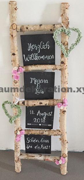 Tischdeko Hochzeit – Deko Idee zur Hochzeit Willkommensschild – #Deko #Hochzeit #idee #Willkommenssch – Wohnaccessoires
