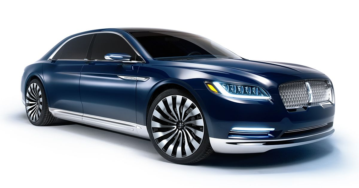 This is the new elegantly styled and boldly distinctive Lincoln Continental Concept. It represents who we are as a maker of fine automobiles.
