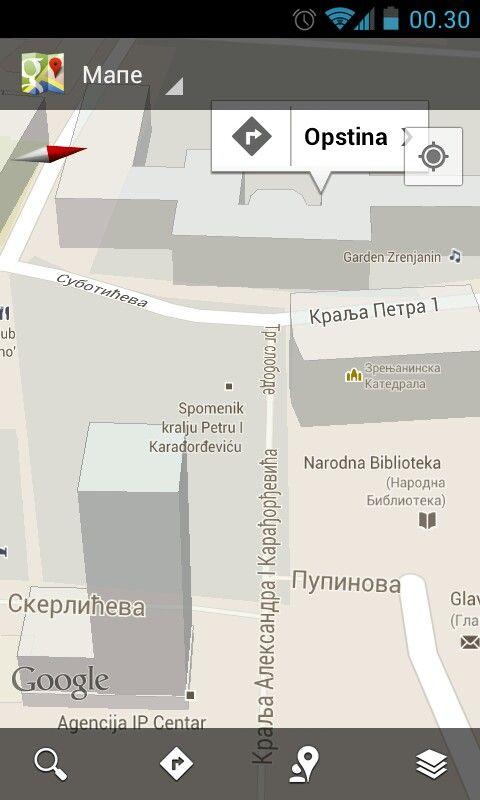 Zrenjanin In Google Mapa 3d Map Screenshots Map Screenshot
