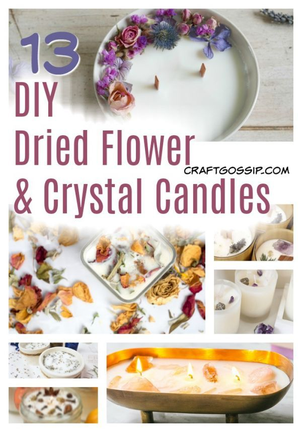 Make Your Own Loaded Dried Flower and Crystal Candles – Candle Making