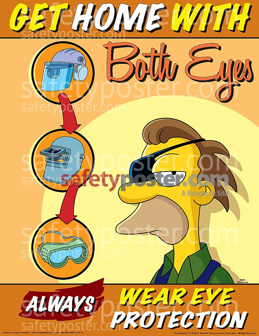 Kitchen safety poster project - Simpsons Get Home With Both Eyes S1166 Industrial Safetysafety Postersworkplace