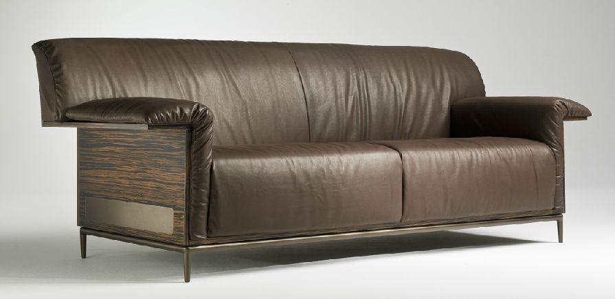 Manhattan Sofa In Ombre Cream Velvet Contemporary Transitional