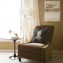 Kristina Wilson Design Houston Center Street Lovely Lamp Chair Combo
