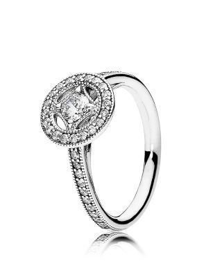 Pandora Ring - Sterling Silver & Cubic Zirconia Vintage Allure | Imported | Style #191006CZ-48 | Sterling silver/cubic zirconia | Photo may have been enlarged and/or enhanced | Web ID:1800176