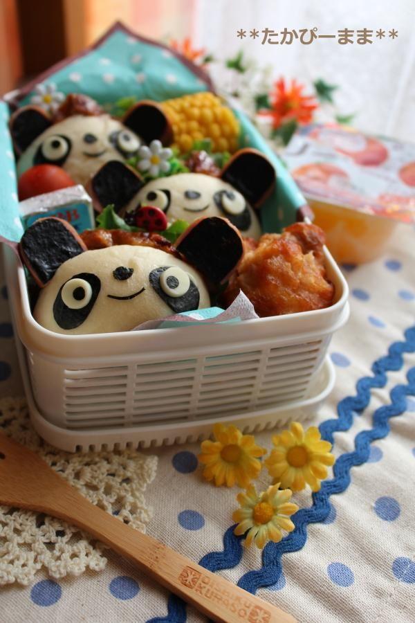panda bread bento anyone else wanna make sugar cookies that look like this too darn cute