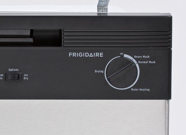 """Frigidaire FBD2400KS 24"""" Built In Full Console Dishwasher with 2 Wash Cycles, 12 Place Settings, Hard Food Disposer, Delay Start, Ready-Select® Controls in Stainless Steel"""