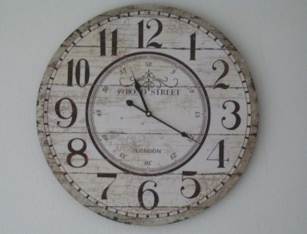 klok voor woonkamer | klok maken | Pinterest
