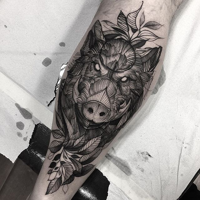 instagram analytics tattoo studio tattoo and studio rh pinterest com wild boar tattoo meaning wild boar tattoo designs