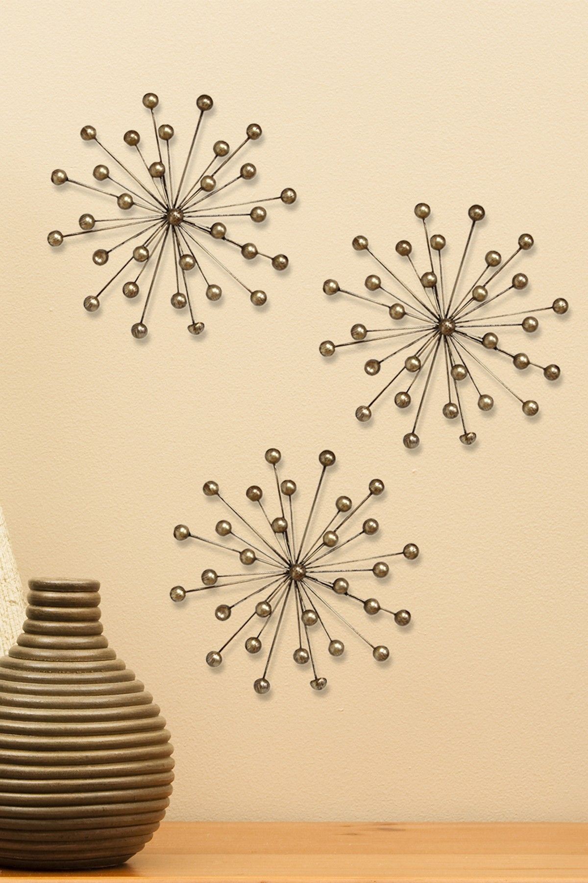 Stratton Home Gold Burst Wall Decor - Set of 3 | Pinterest | Wall ...