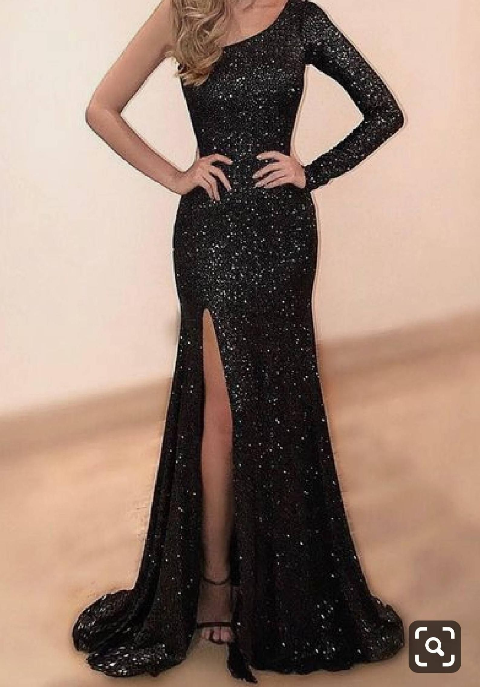 Women black prom dresses,sequin,african prom dress