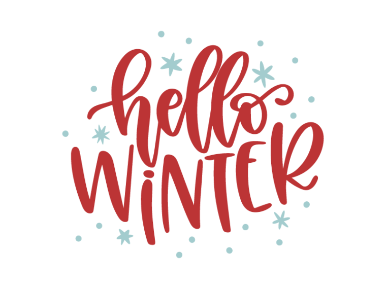 Free Hello Winter SVG DXF PNG & JPEG