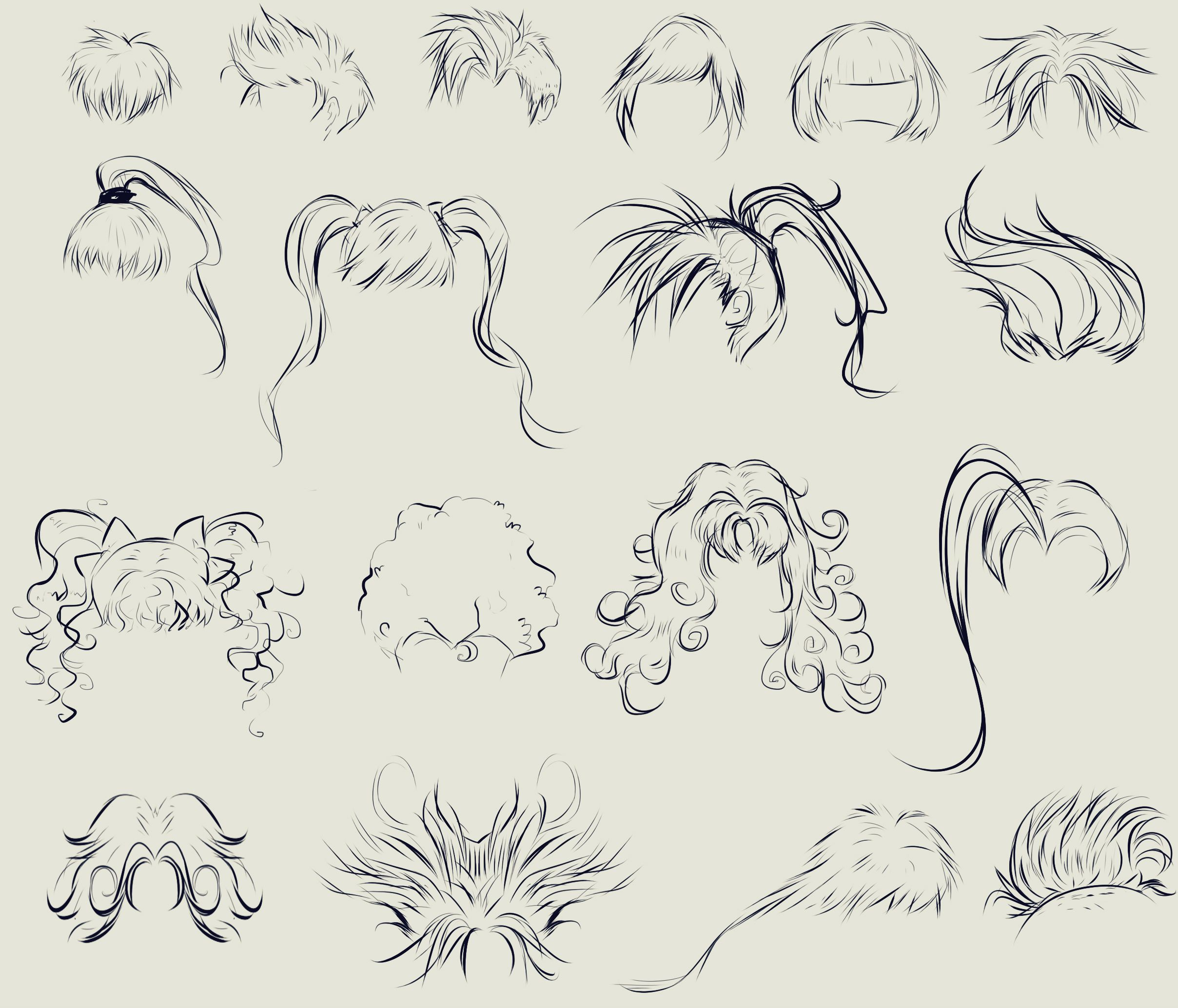This anime hair reference sheet by ryky is all you need to