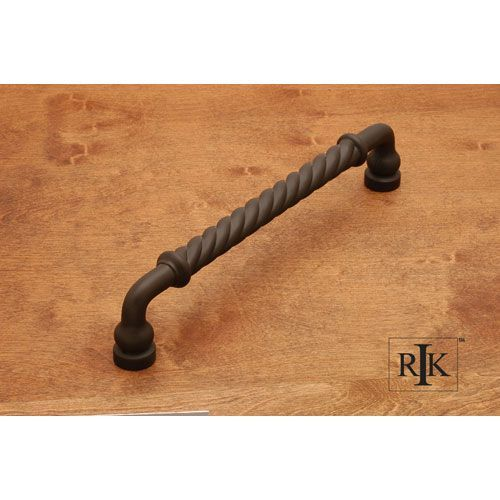 rk international inc oil rubbed bronze twisted door pull door