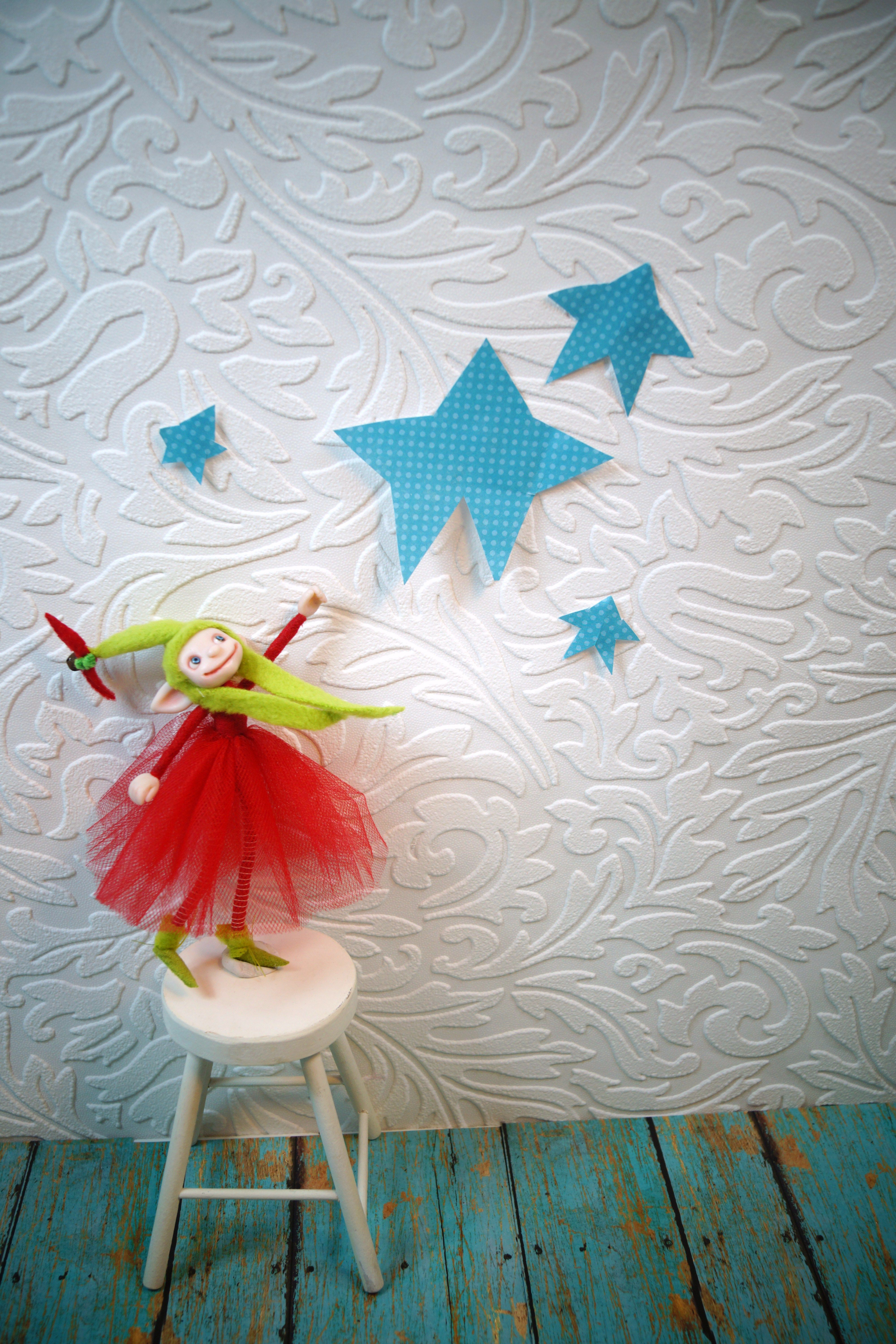 Reach for the star ... one of a kind polymer clay art dolls by DinkyDarlings fairies elves gnomes and the like ...