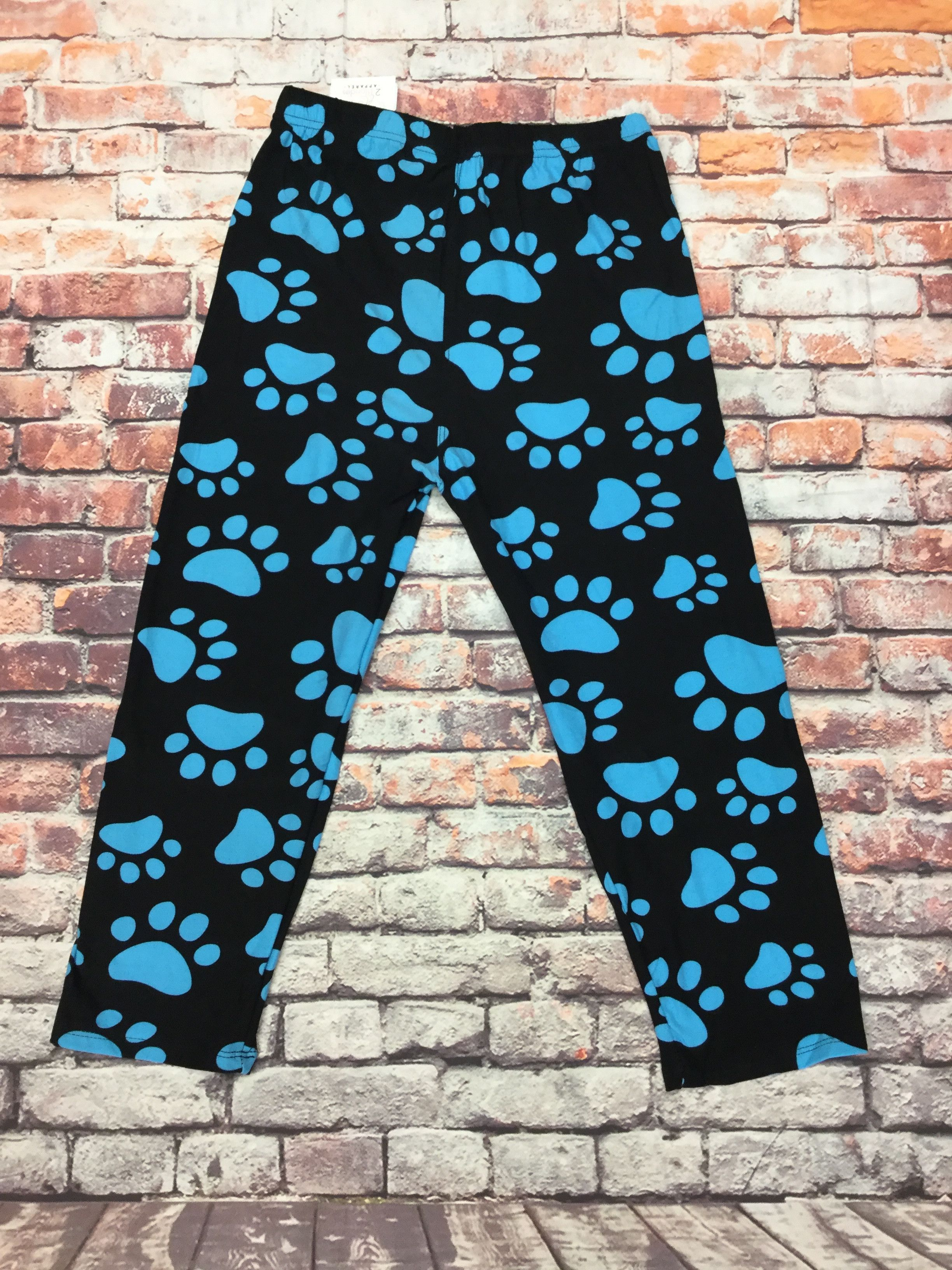 Puppies Blue Print Capri