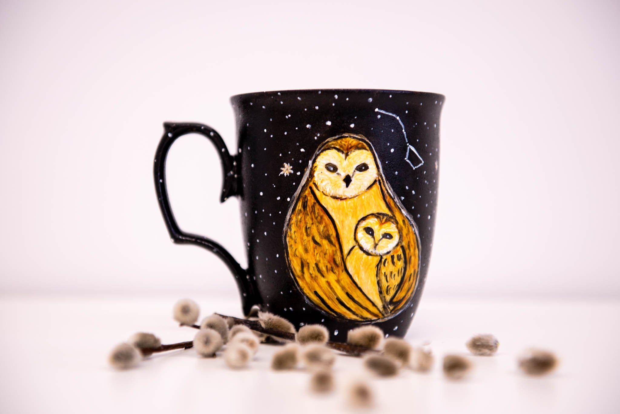 Owl Mom Custom Coffee Mug For Mothers Day Starry Night
