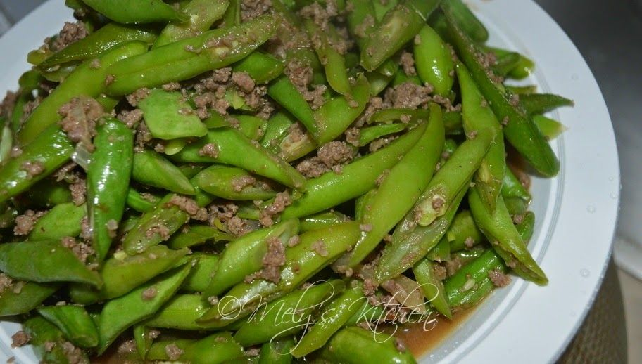 Mely S Kitchen Stir Fried Ground Beef And Green Beans Green Beans Vegetable Recipes Ground Beef