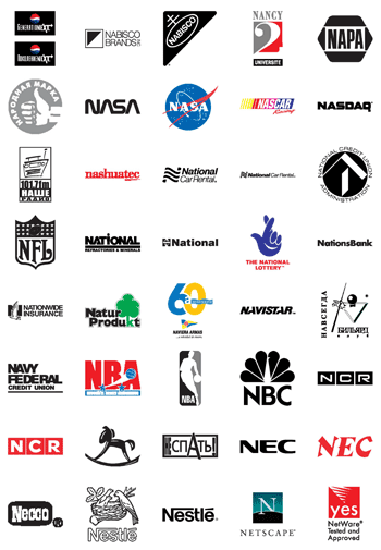 Free Vector Logos Famous Company Logos And Trademarks Letter N