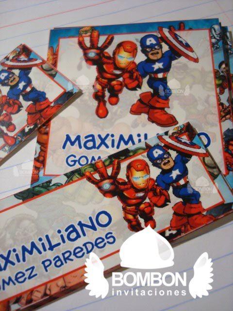 #Avangers #IronMAN #Captain #America #Personalized #Label #Sticker ¡Everybody ready!https://www.facebook.com/invitaciones.bombon